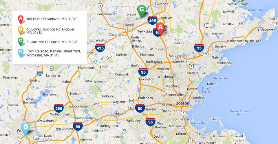 Agretech Corp. is strategically located near I-95, I-495, and I-93